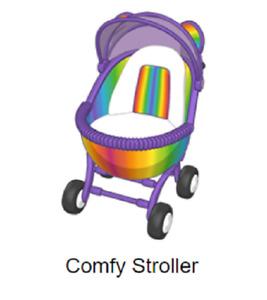Webkinz Classic -Virtual Item- Comfy Stroller *Code Only*