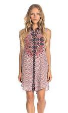 Tolani Holly Starburst Sleeveless Silk Print V-Neck Tunic Dress Size X-Large NEW