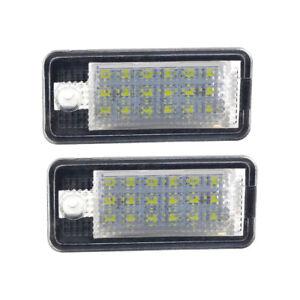 Car LED License Plate Lights Lamps Number For Audi A4 8E B6 B7 A3 8P A6 4F Q7 AU