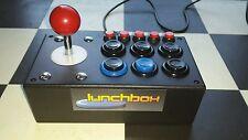 Lunchbox arcade Joystick Fightstick  custom-made PC MAME Raspberry Pi