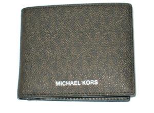 Michael Kors Men's Jet Set Brown Leather Slim Billfold Wallet W/ MK Gift Box New