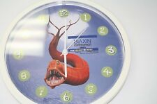"BIAXIN 11 1/2"" BATTERY OPERATED WALL CLOCK, RED EEL ON FACE, GREAT, MIB"