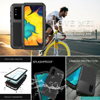 For Samsung Galaxy A20 A50 A70s LOVEMEI HEAVY DUTY Shockproof Metal Case Cover