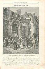 Guignol Populaire Révolution Française à Paris Georges Cain GRAVURE PRINT 1895