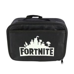 New Insulated Black Fortnite Glow in Dark Kids Children School Lunch Bag lunbag5