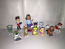 2nd gen PAW PATROL CAKE TOPPERS 12 FIGURES INC EVEREST TRACKER AND MAYOR GOODWAY