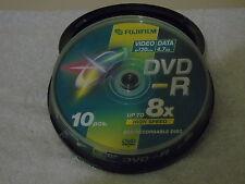 10 x Fujifilm SP120 min VIDEO & DATI 4.7 GB Dischi DVD-R