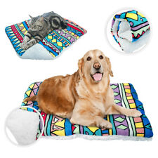 Washable Pet Bed Mat Soft Warm Fleece Pad Liner Mattress for Small to Large Dogs
