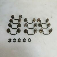 Lot of 10 Dresser Pulls with 5 Key Holes 3 1/2 in wide