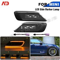 Smoked Dynamic LED Side Marker Indicator Light For 16-up Mini Cooper Clubman F54