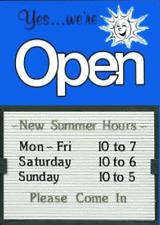 "OPEN CLOSED 14""x20"" MESSAGE SLIDER BOARD SIGNS"