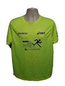 2013 Asics Oslo Maraton 10 21 Eller 42Km Mens Green XL Jersey