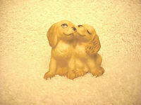"""VINTAGE 1986 FABRIZIO FOR GEORGE GOOD 1 3/4"""" PORCELAIN PUPPY DOGS FIGURINE - NIC"""