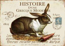 """Ostern Vintage Sticker /""""Happy Easter Eierhasen/"""" Aufkleber Osterhase"""
