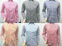 New with Tag Polo Ralph Lauren Women's Long Sleeve Striped Button Up Shirts XS-L