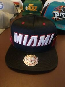 NEW Mitchell and Ness NBA Miami Heat Hat Snap Back