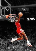 MICHAEL JORDAN POSTER Chicago Basketball Bulls Wall Art Photo Print Poster A3 A4