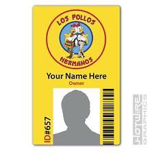 PERSONALISED Printed Novelty ID- Breaking Bad LOS POLLOS HERMANOS ID Card (TV)