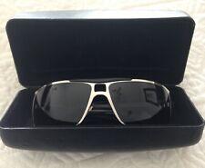 Ladies VERSACE Sunglasses Silver Frame. Black Lens Stylish