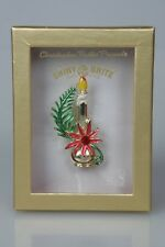 Christopher Radko Shiny Brite Boxed Candolier Candle Pin Signed in Box