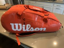 New Wilson Super Tour 2 Tennis Bag 9 Pack Infrared/White