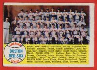 1958 Topps #312 Red Sox Team VG MARKED WRINKLE Ted Williams Mauch FREE SHIPPING