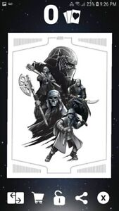 Topps Star Wars Card Trader Rise of Skywalker Character Collage DIGITAL card