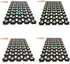 10 50 100 pcs 3W High Power red/green/Blue/Royal blue LED with 20mm star pcb