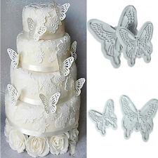 2PCS 3D Butterfly Cake Fondant Mould Decorating Sugarcraft Cookie Cutters Mold