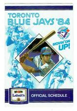 TORONTO BLUE JAYS ~ 1984 Pocket Schedule ~ FREE SHIPPING