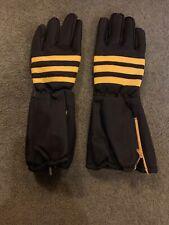 Vintage Style Black Yellow Motorcycle Gauntlet Gloves Size Medium Ideal Am Dram