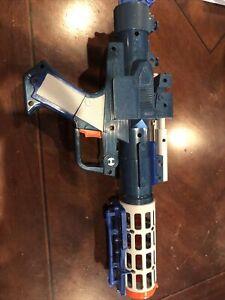 Star Wars Grievous Blaster COSPLAY 2004 Lucasfilm Hasbro RARE BLUE GUN WORKS!