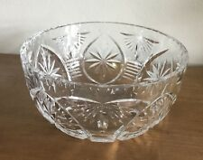 Webb & Corbett Crystal Serving Bowl (Salad/ Dessert): Large 17.75cm, Pre-1960