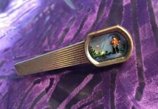Essex Glass Fly Fishing Tie Clasp vintage SWANK Free Ship