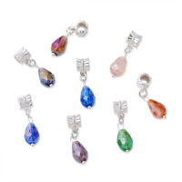 100PCS European Dangle Beads Pendants Charm Necklace With Alloy Drop Mixed Color