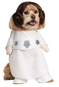 Star Wars Classic Princess Leia Pet Dog Costume Large - New!