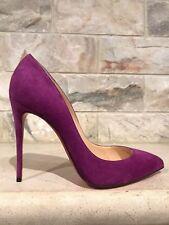 NIB Christian Louboutin Pigalle Follies 100 Purple Cassis Suede Pump Heel 40