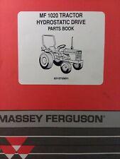 Massey Ferguson MF 1020 Hydrostatic 2& 4 Wheel DriveTractor Parts Catalog Manual