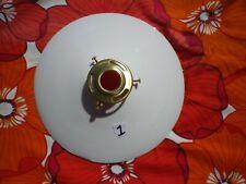 French vintage antique coolie light shade, white milk glass Art Deco, original