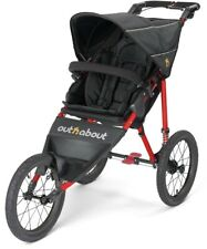 New Out n about nipper sport V4 pushchair Raven black with red frame & Raincover