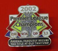 Danbury Enamel Victory Pin Badge Arsenal Football Club League Champions 2002
