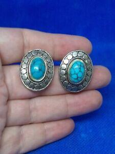 South Western Style Clip on Earrings