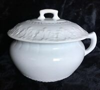 "Nice Antique Ironstone Chamber Pot Marked ""Virginia"""