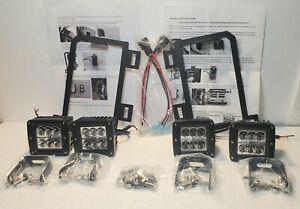 80W Dual LED Pods w/ Foglight Location Bracket, Wirings For 13-18 Dodge RAM 1500