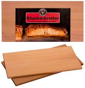 Hochwertige Räucherbretter zum Grillen aus Western Red Cedar /Zeder Smoke Planks