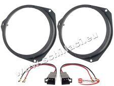 Adattatori altoparlanti Casse 165 mm + connettori  per Opel Corsa D portiere ant