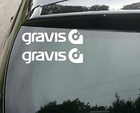 2x GRAVIS  Car/Van/Window JDM VW DUB VAG EURO FAT Vinyl Decal Sticker