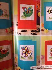 6 x Bugs cartes cross stitch charts en coton et graphique