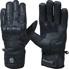 SAWANS® Leather Summer Motorcycle Motorbike Gloves Winter CE Knuckle All weather