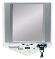 Bathroom Mirror Shower Wall Fogless LED Light Vanity Shaving Mirror With  Clock